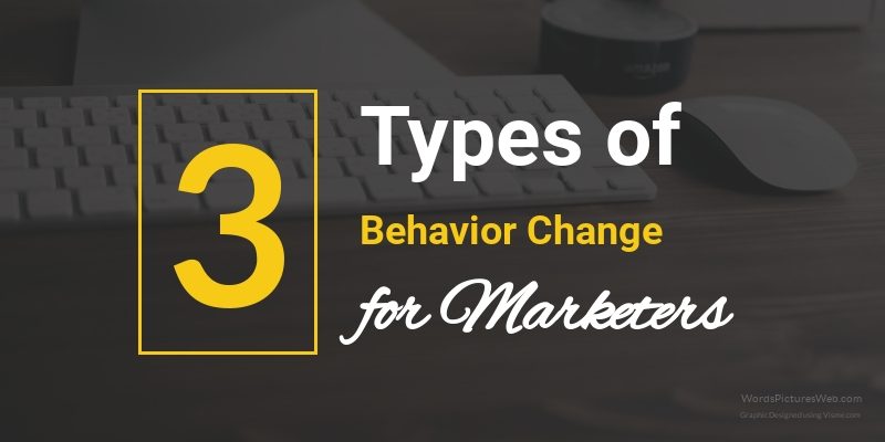 Types of Behavior Change in Content Marketing